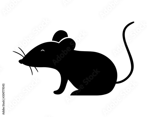Fototapeta Isolated mouse silhouette vector design