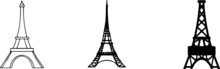 Eiffel Tower Icon Isolated On ...