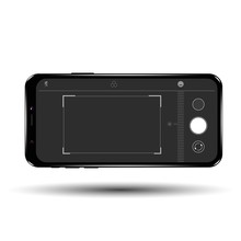 Mobile Camera Interface Template Background. Screen Of Smartphone With Camera Interface.