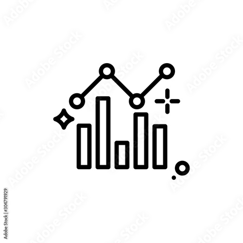 Fototapety, obrazy: Growth Chart Vector Line Icon