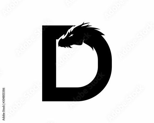 Photo Letter D for dragon