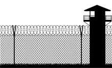 Barbed Wire Prison Fence Vecto...