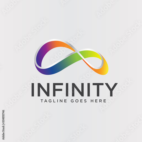 colorful infinity logo design template vector Poster Mural XXL
