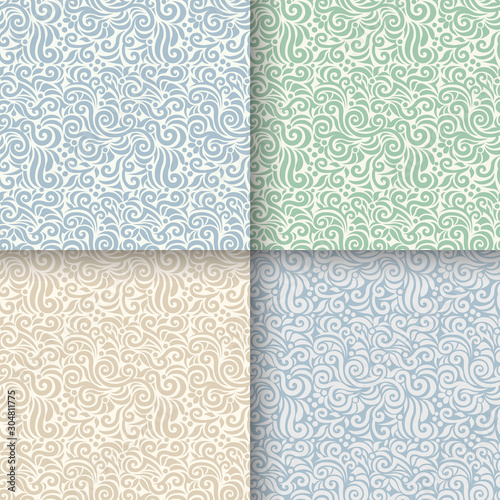 Poster Artificiel seamless pattern floral background vector