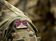 Flag Of Tibet On Military Unif...
