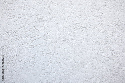 Photo White fine plaster Texture Background - rough grooves
