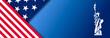 Leinwandbild Motiv Presidental election banner with USA symbols. Presidental election 2020. Election banner Vote 2020 with Patriotic Stars.