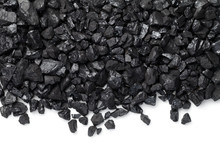 Black Coal Isolated On White B...