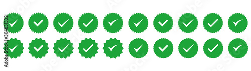 Photo Vector badges of guarantee, approval, acceptance and quality