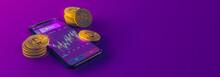 Futuristic Candlestick Bitcoin...