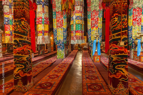 Fotografia, Obraz Interior of the main hall in Drepung Monastery near Lhasa, Tibet