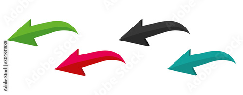 Obraz Colorful vector arrows on a white background. Vector illustration - fototapety do salonu