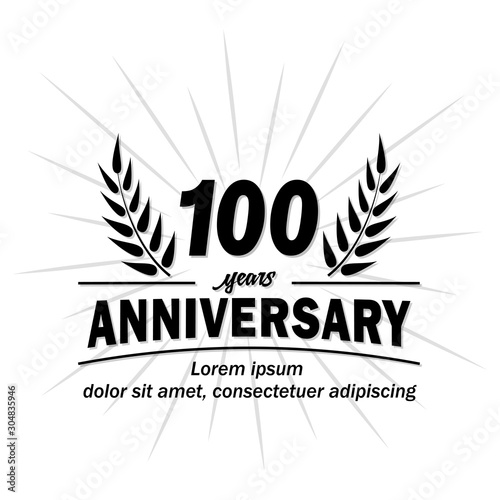 100 years logo Canvas Print
