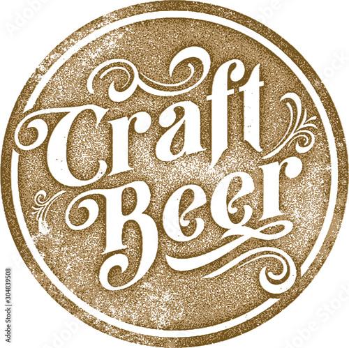 Photo  Vintage Style Craft Beer List Sign