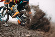 Details Of Debris In A Motocross Race .