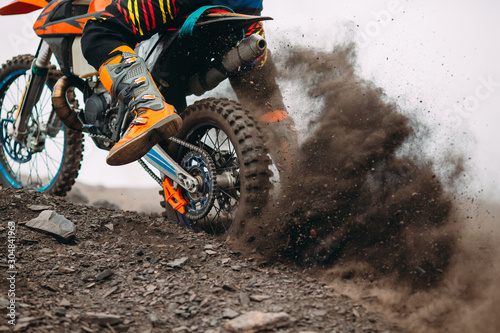 Photo Details of debris in a motocross race .