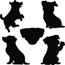 Set Of Jack Russell Terrier Si...