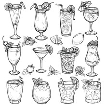 Sketch Cocktails, Alcohol Drin...