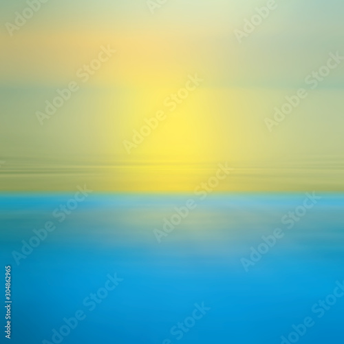 Foto auf Leinwand Gelb Motion blurred background of refraction in the sea