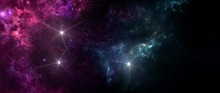 Black Hole, Planets And Galaxy...