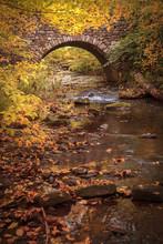 Stone Bridge Over Stream (vertical)