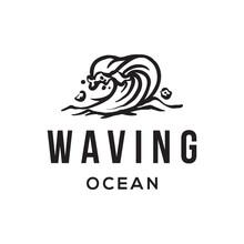 Ocean Water Wave Logo Template