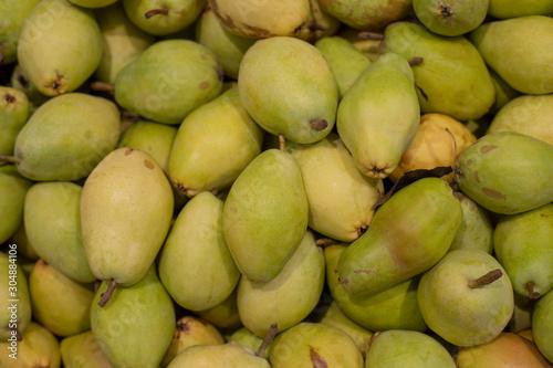 Bartlett pears in a supermarket Wallpaper Mural
