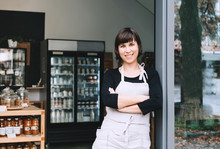 Portrait Of Owner Of Zero Waste Shop. Sustainable Small Businesses.