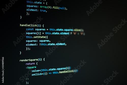 Código de programación Canvas Print