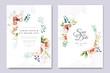 watercolor wedding invitation card designs