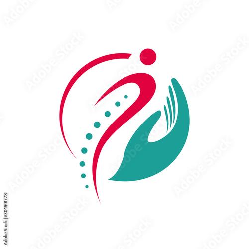 Carta da parati simple chiropractic logo