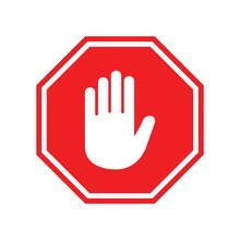 Stop Sign Icon Vector Design Symbol