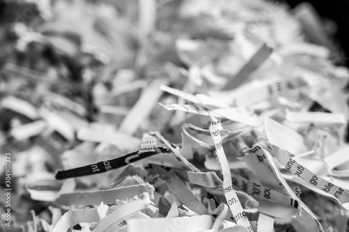 Fotografie, Obraz Pile of shredded paper clippings