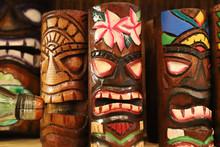 Typical Hawaiian Wooden Tiki M...
