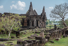 Old Khmer Ruins At The Wat Phu...
