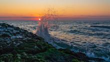 Beautiful Sunrise On A Rocky S...