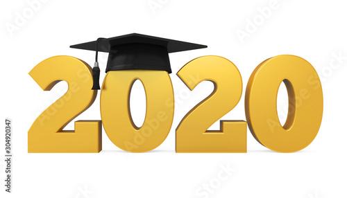 Photo 2020 Graduation Cap Isolated