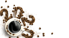 2020 Coffee Beans Text Number ...