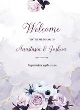 Dusty Violet Lavender, Mauve Antique Rose, Purple Pale Flowers, White Anemone