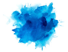 Blue Splash Of Paint Watercolo...