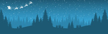 Simple Christmas Background With Typical Elements