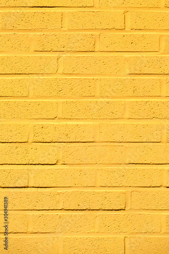 Detail of Yellow Brick Wall Texture