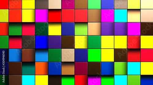 Fototapety do kuchni   abstract-vector-background-of-multi-colored-cubes-in-eps-10