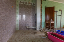 Devastated Kitchen In A Demolition House