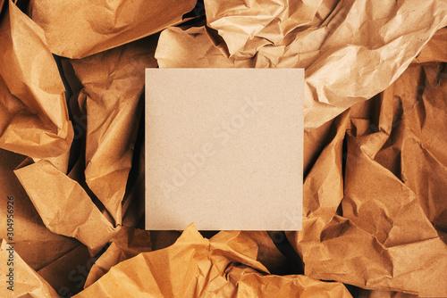 Fotografie, Obraz Mock up eco friendly concept,reusable paper for packing,zero waste