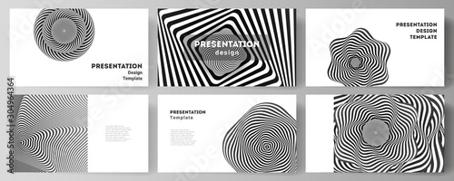 The minimalistic abstract vector layout of the presentation slides design business templates Fototapet