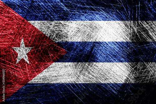 flag of cuba with texture. template for design Wallpaper Mural