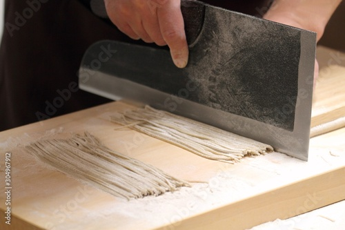 蕎麦打ち - Making Soba Noodles Canvas Print