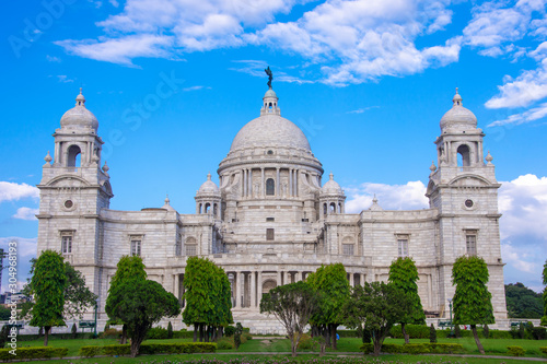 The Victoria Memorial is a large marble building in Kolkata, West Bengal, India Wallpaper Mural