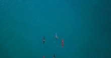 Aerial Image Of Kayakers Paddl...